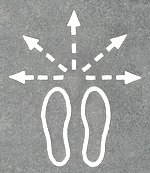 step direction